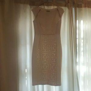 White Cap Sleeve Form Fitting Dress